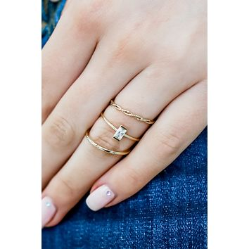 Perfect Touch Ring Set - Gold