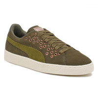 PUMA Womens Olive Night Suede XL Lace Trainers