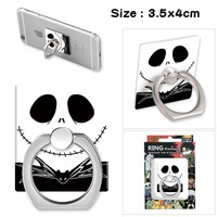 Hot game The Nightmare Before Christmas Cartoon Ring Stand Mount Holder Stent Mobile Phone Paste Stents Collection Gifts