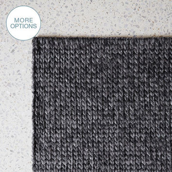 Custom Cable Knit Hand Woven Braided Wool Rug