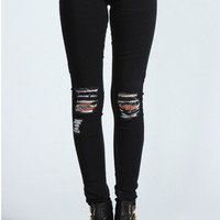 Laura Distressed Ripped Knee Skinny Jeans