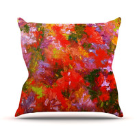 "Jeff Ferst ""Summer Garden"" Floral Painting Outdoor Throw Pillow"