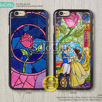 iPhone 6 case, iPhone 6 Plus case, the beauty and the beast, Disney, iPhone 5 case, iPhone 5S Case, Galaxy S5 S4 S3 Note 2 Note 3, A0097