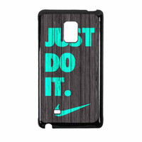 Nike Just Do It Wood Colored Darkwood Wooden Fdl Samsung Galaxy Note Edge Case