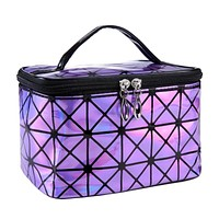 Multifunctional Cosmetic Bag Women Leather Travel Make Up Necessaries Organizer Zipper Makeup Case Pouch Toiletry Kit Bags