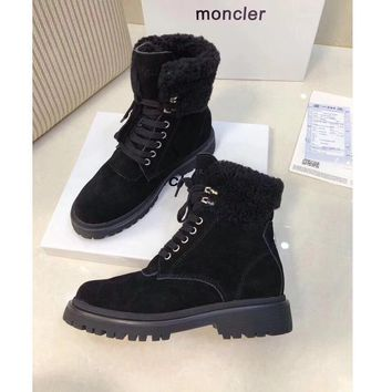 MONCLER Women Casual Shoes Boots  fashionable casual leather Shoes