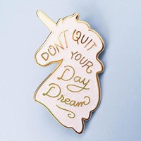 Unicorn Daydreams Pin - Iridescent Glitter