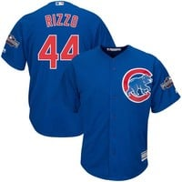 Men's Chicago Cubs Anthony Rizzo Majestic Alternate Royal 2016 Postseason Patch Cool Base Player Jersey