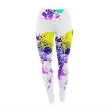 "Frederic Levy-Hadida ""Owl"" Purple Yoga Leggings"