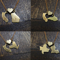 State Loves State - You Choose - NON-engraved Charm Necklace