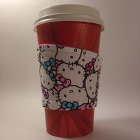 Pastel Kitty Beverage Cup Cozy