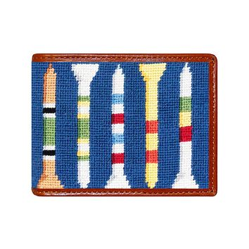 Golf Tees Needlepoint Wallet by Smathers & Branson