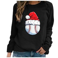 fhotwinter19 Explosive Printed Pullover Women's Christmas T-shirt