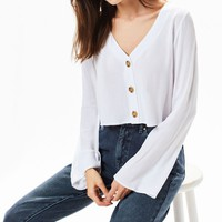 LA Hearts Long Sleeve Button Down Top | PacSun