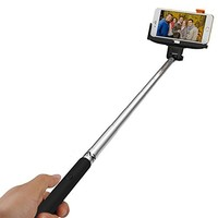 Noot Groupie Self Portrait [Battery Free] Extendable Handled Stick with Adjustable Phone Holder Mount & Built-in Remote Shutter Designed for Apple & Android Smartphones [Pink]