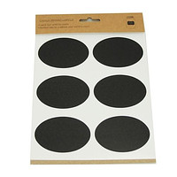 Chalkboard Label Stickers, Oval, 3-inch, 24-count