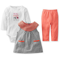 Carter's Baby Set, Baby Girls 3-Piece Tunic, Bodysuit and Leggings