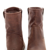 MTNG Morgana Valle Moka Brown Leather Ankle Boots