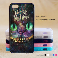 Alice Wonderland And Cheshire Cat Phone Case For iPhone 6 Plus For iPhone 6 For iPhone 5/5S For iPhone 4/4S For iPhone 5C iPhone X 8 8 Plus