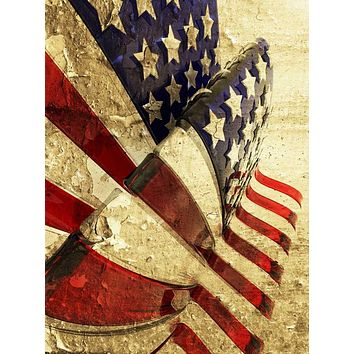Printed Grungy American Flag 3D Photography Backdrop - 1385