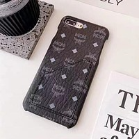MCM iPhone 7/8/x/11/12 card phone case protective cover