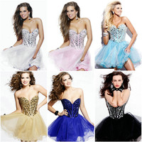 New Stock Short Cocktail/Bridesmaid Dress Prom/Party Gown Size:6/8/10/12/14/16