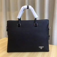 PRADA MEN'S HOT STYLE LEATHER BRIEFCASE BAG CROSS BODY BAG