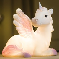Pink or Purple Unicorn 6 Color LED Kids Nightlight Glow Lamp
