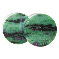 "Build Your Ruby in Zoisite Stone Plugs (2g-3"")"