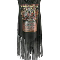Printed Fringed Sleeveless Tank