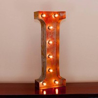 """24"""" Letter I Lighted Vintage Marquee Letters with Screw-on Sockets"""