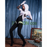 Stag Night Spider Gwen Stacy Cosplay Costume Spandex Zentai Sexy Hooded Jumpsuit For Halloween Party