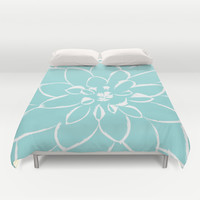 Dahlia Limpet Shell Duvet Cover by Miss L In Art