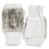 Collection XIIX Faux Fur Fingerless Gloves | Nordstrom