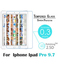 """2016 New Hot Screen Protector for iPad Pro 9.7 inch 9H High Definition HD Tempered Glass Screen Protector for iPad Pro 9.7"""""""