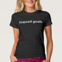 American Apparel 100% Cotton Jersey T Shirt-#squad goals.  Black Shirt.