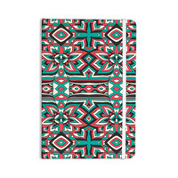 """Pom Graphic Design """"Ethnic Floral Mosaic"""" Teal Red Everything Notebook"""