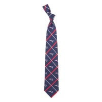 New England Patriots NFL Silver Line Woven Silk Mens Tie