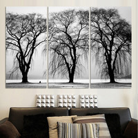 3 Piece Modern Canvas Wall Art Colored Feathers Oil Painting Picture Print On Canvas For Bedroom Home Decoration No Frame