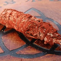 DRAGON'S BLOOD White SAGE Smudge Stick - Purification Ceremonies, Cleansing Sacred Space