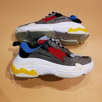 Balenciaga Triple-S Sneaker 17FW Khaki Grey Casual Shoes  Best Goods