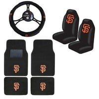 Licensed Official MLB San Francisco Giants Car Truck Seat Covers Floor Mats Steering Wheel Cover