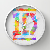 1D One Direction Watercolor Wall Clock by dan ron eli