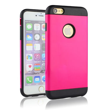 Hot Cell Otterbox For Iphone6 Plus Cell Phone Cases Corselet Cover For Iphone6 Plus Candy Color TPU+PC Shakeproof Phone Shell = 1958277636