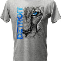 (0048) Lion Eye Detroit T-Shirt, Detroit T-Shirts LLC
