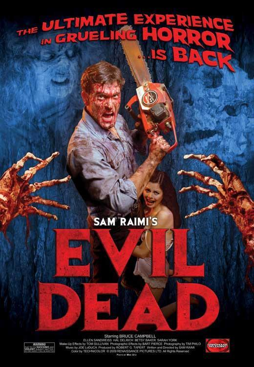 Image of The Evil Dead 11x17 Movie Poster (1983)