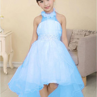 flower girl dress for wedding party new style halter princess dresses children brand clothing kids formal clothes - Brides & Bridesmaids - Wedding, Bridal, Prom, Formal Gown