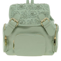 ASOS | ASOS Backpack With Mini Floral Cut Out at ASOS