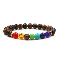 Gift Great Deal New Arrival Stylish Awesome Shiny Hot Sale Black Multi-color Yoga Stretch Bracelet [276345552925]