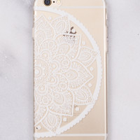 Half Floral iPhone   Case